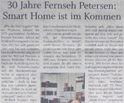 Presseartikel - 30 Jahre Fernseh Petersen